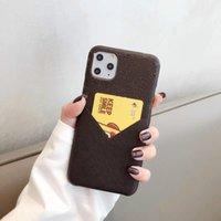 Casos de telefone de moda para iphone 12 pro máximo 11 pro max 7 8 mais x xr xs max com titular do cartão traseiro para mulheres meninas apoio dropship