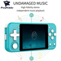 POWKIDDY Q90 Retro Game Console Open Dual System 3 inch IPS screen video game portatil Handheld Support PS1 players toys