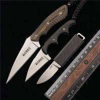 CRKT 2425 2385 2388 Piccolo coltello dritto con K Guaina Outdoor Camping Caccia Pocket Tool Kitchen Tool EDC Hanging Neck Coltelli