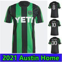 2021 2022 CECILIO 오스틴 FC 축구 유니폼 링 BESLER FAGUNDEZ 홈 키트 멀리 21 22 남자 아이 축구 셔츠 Camisetas Fútbol Maillot de Foot