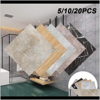 Décor Home & Garden Drop Delivery 2021 20Pcs Floor Stickers Self Adhesive Marble Wallpapers For Living Room Bathroom Wall Sticker Diy Ground