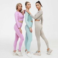 Autumn Designer Yoga Sportwear Tracksuits Fitness Gymshark Bra Leggings 2pcs outdoor outfits Sports align pants gym wear Clothing suit solid2AA9