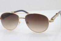 작은 망 흰색 유리 장식 스타일 새로운 버팔로 569 블랙 믹스 스톤즈 unisex 뜨거운 안경 큰 선글라스 금속 c 호른 금색 프레임 gl avfi