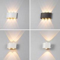 Outdoor Wall Lamps IP65 Waterproof LED Lamp Garden Aluminum Sconce Indoor Bedroom Living Room Stairs Light AC86-265V Lights