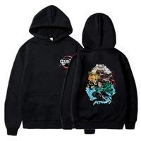 Casual Hoodie Kazak Moda Anime Demon Slayer Erkekler Kadınlar Harajuku Kiu Hiçbir Yaiba Bahar Unisex Tişörtü Streetwear Kazaklar XXS-4XL
