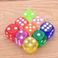 14X17MM 11 Color Transparent Dice Charms DIY Earring Findings Pendants Miniature Figurines Resin Craft Cabochon Making Accessories