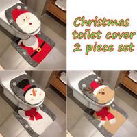 Новейшие рождественские туалетные украшения украшения снеговика Санта-Клаус ванная комната творческий макет одежда 2 шт рождественских украшений