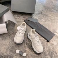 Dikiş Kontrast Deri Rahat Ayakkabılar Rahat Lateks Pad Nefes Kadınlar Clunky Sneaker Tüm Maç Basit ve Yakışıklı Sneakers