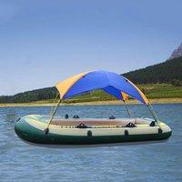 Tentes et abris de haute qualité gonflable kayak tente de stouth-plan de style solaire bateau à rames de bateau pliant auvent de pêche en caoutchouc (tente uniquement)