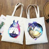 Totoro Studio Ghibli Miyazaki Hayao Anime Kawaii Графический мультфильм Распечатать Сумки Девушки Мода Повседневная Ручная сумка Packakge