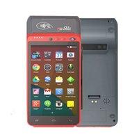 Android 7.0 Todo en uno Sistemas de pago Cash Los registros de efectivo 4G WiFi 1D / 2D 58mm Recibo térmico Impresora de la impresora POS Terminal con el escáner de código QR para la tienda Z100
