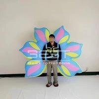 Nuovo design 2m prestazioni costume gonfiabile fiore / decorazione floreale per lo spettacolo di burattini gonfiabile della città di progettazione della fase