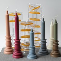 Craft Tools European Style 3d Acrylic Mold For Candle Making Home Decoration DIY Plaster Resin Molds Beewax