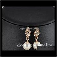 Мода Big Bride Ожерелье Жемчужное Набор Европейской и Американской Свадебный Ювелирные Изделия Банкетные Платье Серьги Boutique Uqugx 7GV2R