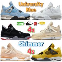 High Quality University Blue Basketball shoes Fire Red Black Cat Bred Paris Starfish metallic purple White Cement what the Men sport sneakers