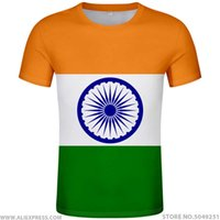 INDIA T Shirt Name Number Ind T-shirt Photo Clothes Print Diy Free Custom Made Nation Flag Hindi Country Republic Indian Jersey H0911