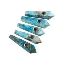 Натуральный аметист кристалл кварцевая труба ручной работы с металлическим чашим каменным табаком курение CIGARATTE Травяные фильтра 5 стилей Выберите