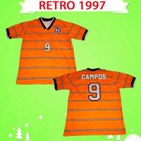 Top Quality 1997 1998 Cruz Azul Futbol Club rétro Jerseys de football Vintage Mexique Adulte Hommes Chapeaux de football classique 97 98 Orange Away