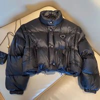 Chaqueta para mujer invierno grueso cálido cortavientos cubrimiento dwon parkas para lady chaquetas delgadas Outweares con letras Botones BUTGE CUBIERTAS MATE ABAJOS DOWNS