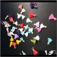 100 stück Multicolor Baumwolle Mini Quaste Pend Fransen DIY Schmuckherstellung Ohrring Halsketten Kleidungsstück Quasten Spitze Zubehör Material H G8KEQ KJP2K