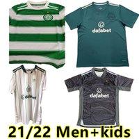 21 22 Jerseys de fútbol celta Hogar a la casa 3rd Edouard Brown Duffy Taylor Christie Camisa de Fútbol Portero Hombres + Kit Kit Kits Calcetines Uniformes