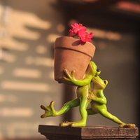 Collezione quotidiana Home Decor Mini Flower Pot Fata Giardino Animale Animale Animale Rana Succulente Vaso da esterno Decorazione esterna Clay Flowerpot 710 V2