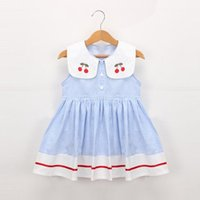 Girl's Dresses Toddler Baby Girls Sleeveless Cherry Dot Princess Bow Hat Outfits Kids For Casual Wear Clothing Birthday