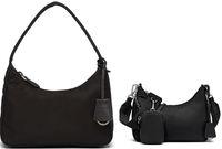 Reedición 2005 Bolso de hombro de nylon de alta calidad Diseñador de marca de lujo Cadena de moda clásica ARMPIT