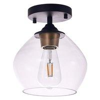 현대 LED 천장 조명 거실 침실 빛 복도 발코니 펜던트 램프 85-265V 천장 램프 주방 산업용 유리 조명