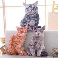 50cm simulação gato almofada de pelúcia pelúcia pelúcia macio plushie gato travesseiro sofá almofada decoração de casa brinquedos para crianças meninas presente