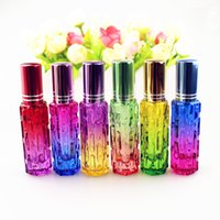 6pcs lot 12ml Perfume Empty Spray Colorful Refillable Cosmetic Glass Fragrance Bottle Travel Use