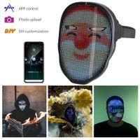 Funa Original Brillante Máscaras Bluetooth Aplicación Bluetooth Muestra Cambiar máscara facial Programable DIY PHOTO FOTO ABRIPTO ANIMACIÓN LED CRISTO CRISTO
