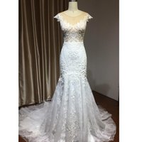 Mermaid Wedding Dresses scoop neck Luxury Ivory Lace Backless Bridal Gowns Appliques Tulle Plus Size Custom Design