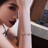 Link, Chain Girl Heart Bracelet Moon Half Bend Net Red Handdress For Women Rope Female Student Korean Ins Star Fashion Accessories