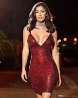 2019 night club summer v neck Sequins Hot for girl Selling Dresses Women Clothes Fashion Sleeve Casual sexy party Paillette sequin Dress