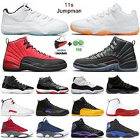 Basketball Shoes Basketball-Schuh-Trainer Männer 5s 2020 Fire Red TOP 3 11s Weiß Bred Concord Blau Metallic Silver 12s Reverse-Flu Game Sport-Turnschuhe