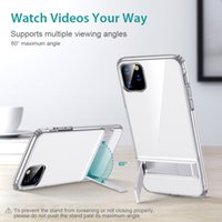 Cases for iPhone 11 12 Pro Max SE 2nd X XR XS Max XR 8 7 Plus Cover Stand Metal Kickstand Case
