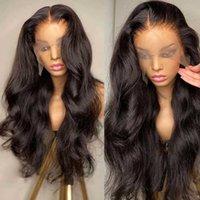 Spitze Perücken Körperwelle Vordere Perücke 30 Zoll Menschliches Haar für schwarze Frauen vorgeptet mit Baby Brasilianer Remy 13x4 HD Frontal