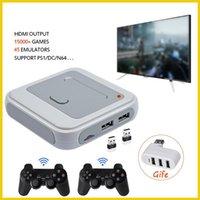 WiFi إخراج سوبر لعبة وحدة التحكم X 50+ المحاكي 40000+ الفيديو الرجعية البسيطة تلفزيون الفيديو مناسبة ل ps5 / N64 DC اللاعبين المحمولة