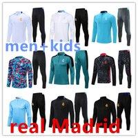 2021 2022 Real Madrid Tracksuit Set Training Suit 21 22 Män och Kids Veste de Fotboll Chandal Futbol Surfêtement