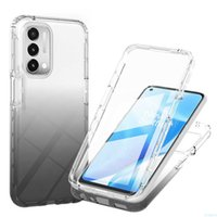 360 Full Body Screen Protector Transparent Case For OnePlus Nord N200 5G Gradient Color Shockproof Phone Cover Fundas