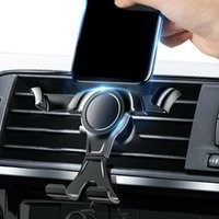 Cell Phone Mounts & Holders Holder Auto Lock Car Air Vent Clip Mount Stand No Magnetic Gravity Mobile Support In