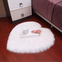 Amor imitación lana alfombra de alfombra colchón colchón manta placa de salón mesa sofá dormitorio cojín pies almohadillas alfombras