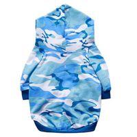 Blue Blue Camuflaje Cat Trajes de gato Trajes de vestir Ejército Green Pink Sudadera con capucha Pet Puppey Producto para perro Primavera Otoño Invierno