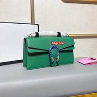 النساء dionysus مصممين أكياس أعلى جودة حقيبة الكتف حقائب اليد المحافظ سلسلة الأزياء رسائل معدنية عبر الجسم حقيبة جلد البقر حقيبة مع صندوق
