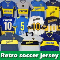 Boca Juniors Retro Soccer Jersey 84 95 96 97 98 Maradona Roman Caniggia Riquelme 1997 2002 باليرمو 99 00 01 02 03 04 04 05 06 1981 SHORTS MAILLOT CAMISETA DE FUTBOL