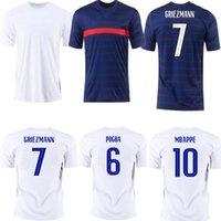 20 21 MBappe Griezmann Pogba 유니폼 2021 축구 유니폼 축구 셔츠 Maillot 드 Foot Varane Pavaro Umtti Giroud Men + Kids Kit Enfants