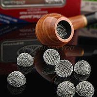 Sigara Borular 10 adet Boru Metal Filtre Ekran Çelik Örgü Kirişlenmiş Dome Bong Shake Bırak