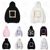 4а верхний свитер Качество мода Новая Цветовая коробка с капюшоном Hip Hop Street Classic Вышитая буква Marka Polar Flece Hoodie