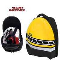 Mochila de fibra de carbono de la motocicleta, bolso de casco completo de doble hombro, el mismo estilo se personaliza